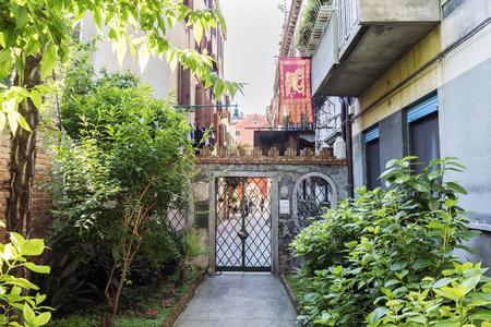 procuratie: Venice, Veneto  Italy- May 20, 2017: Typical courtyard of a Venetian house on the street called de la Procuratie