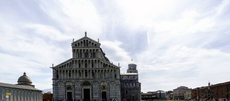Facade of the Duomo in Pisa in Italy