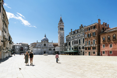 Venice, Veneto  Italy- May 21, 2017: View of the square called Campo Santa Maria Formosa in the oldest part of the island of Venice