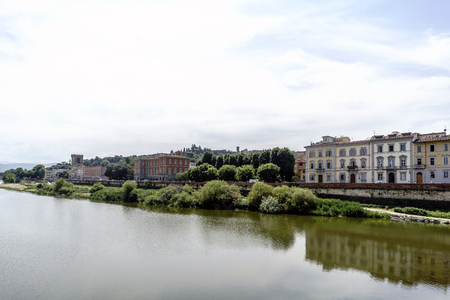 Views of neighborhoods, monuments, streets and the Duomo. Tourist sites of Florence, Italy