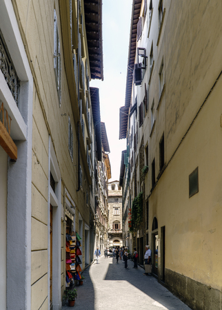 Florence, Tuscany, Italy. Circa May 2017: Views of neighborhoods, streets and churches of Florence