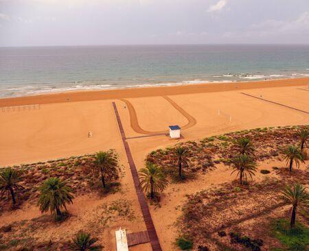 Aerial view of a Mediterranean beach