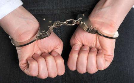 In handcuffs photo