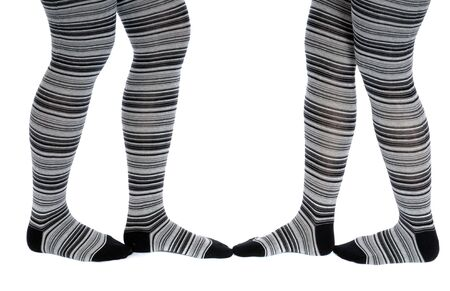 Legs in a grey pattern pantyhose Stock Photo - 4814366