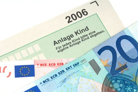 exemption: German tax form is waiting to be completed