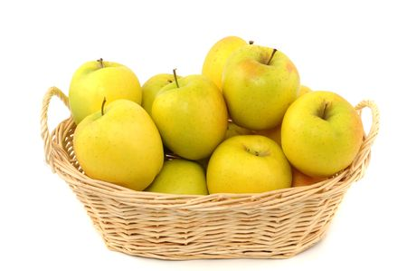 wellbeeing: Fruit basket with apple as symbol for a healthy lifestyle