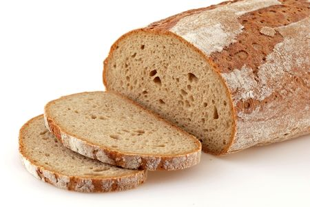 Loaf of a German bread in front of a white background Stock Photo - 4821841