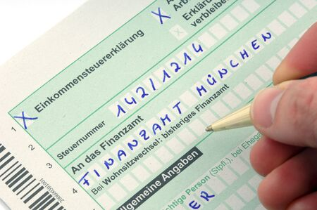 taxpayer: German tax form waiting to be completet