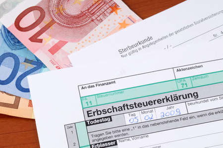 successor: German form for death tax