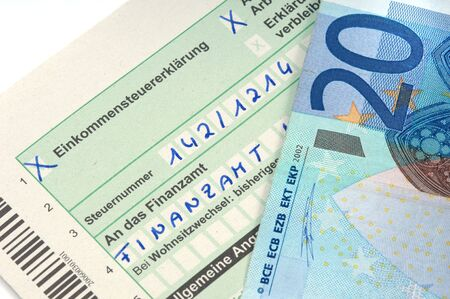 German tax form is waiting to be completed photo