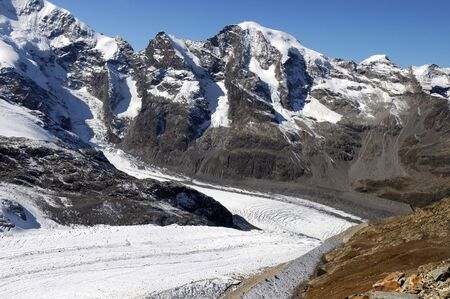 jetset: View from the Diavolezza to the surrounding mountains and glaciers
