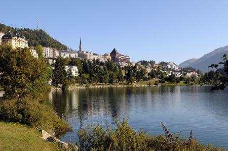 View of St. Moritz in Switzerland