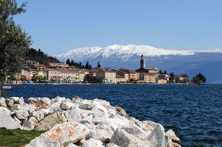 garda: Salo at Lake Garda  Stock Photo