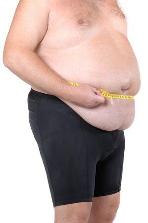 belly button: Gordo aisladas en blanco