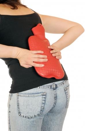 w�rmflasche: Junge Frauen hat eine schlanke backage