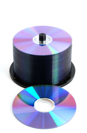 DVD in front of a white background
