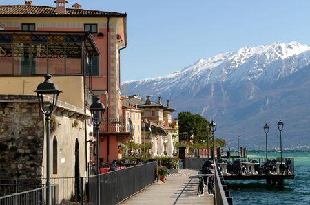 Gargnano at Lake Garda Stock Photo