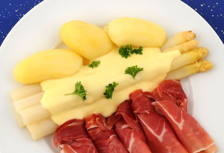 Asparagus and ham photo