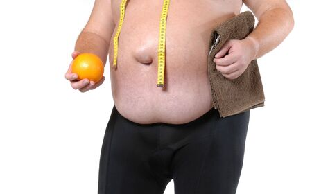 potbelly: Starting a diet Stock Photo