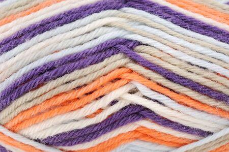 raspy: Multicolored wool Stock Photo