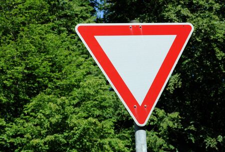 German traffic sign No. 205 - give way Stock Photo - 5155701