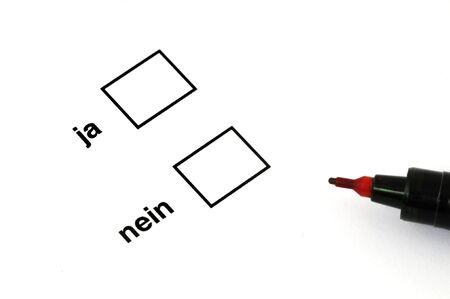 Ja oder nein - yes or no  Stock Photo - 5155674