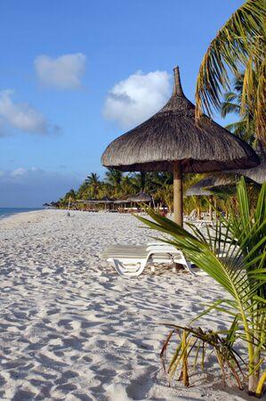 Palm beach aan de zuidkust van het eiland Mauritius