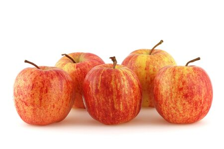wellbeeing: Apple in front of a white background