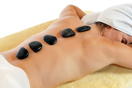 Woman gets a lastone therapy photo
