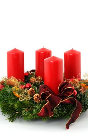 Advent wreath with red candles Stock Photo - 6066148