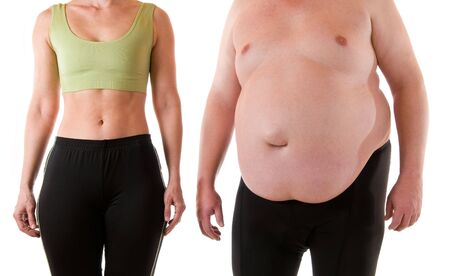 thick: Young woman beneath a very fat man