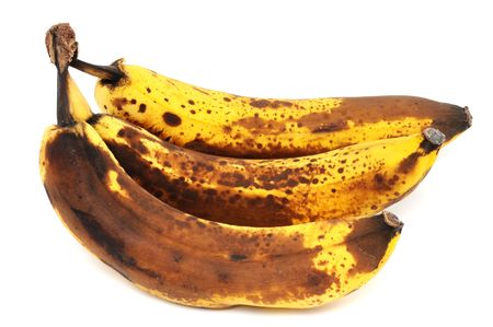 Overripe bananas in front of a white background Stock Photo - 6369266