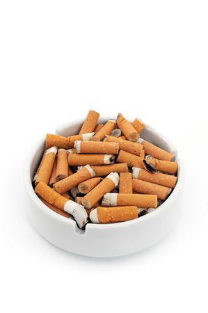 Ashtray with cigarettes photo