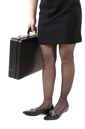 Young slim  woman in mini skirt photo