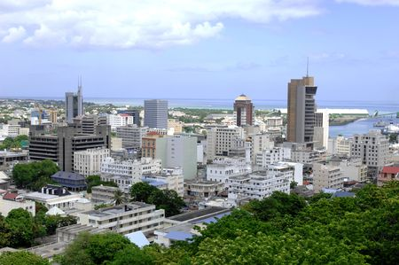 Port Louis, capital of Mauritius island