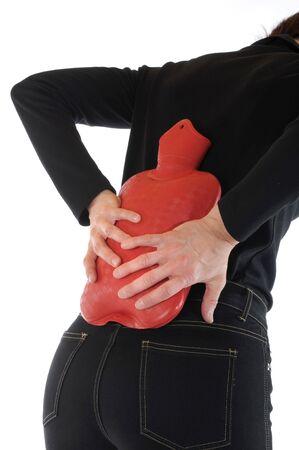 abdominal pain: Giovane donna sottile ha dolore addominale Archivio Fotografico