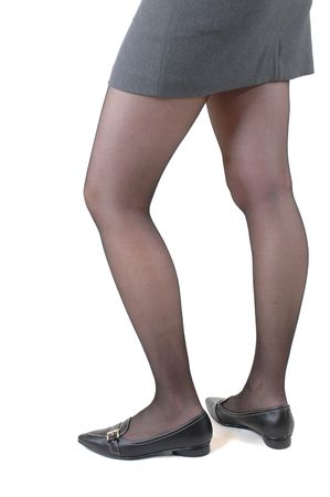 eyecatcher: Young slim  woman in mini skirt