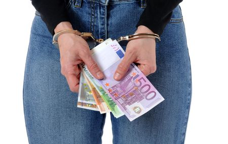 Young woman with handcuffs Stock Photo - 6633689