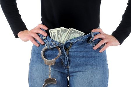 Young woman with handcuffs Stock Photo - 6633569