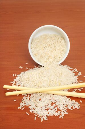 staple food: Rice is staple food in many countries Stock Photo