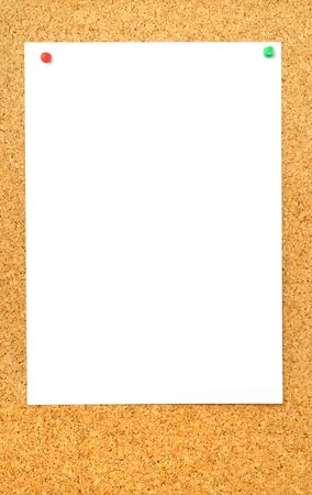 pinboard: Brown pinboard with pinned memo