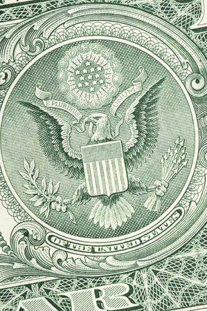 US-dollar-bill in a macro shot photo