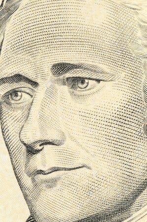 alexander hamilton: Progetto di-dollaro-legge statunitense in una macro girata