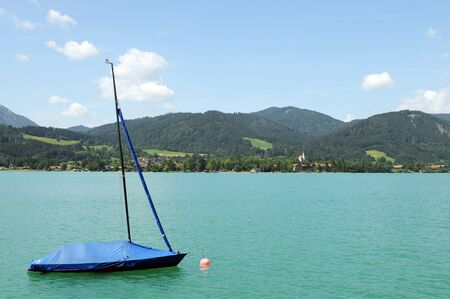 tranquille: Tegernsee in bavaria Stock Photo