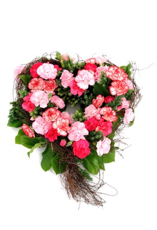 carnations in form of a heart Stock Photo - 6964868
