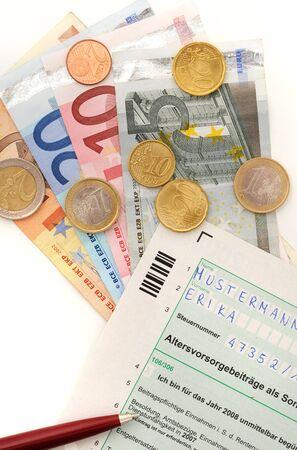 abastecimiento: Formulario fiscal alem�n oficial para la prestaci�n de vejez
