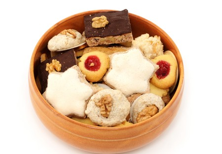 Bowl with christmas cookies photo