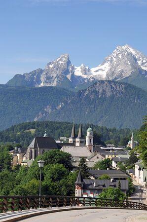 View of Berchtesgaden and the Watzmann Stock Photo - 7285741