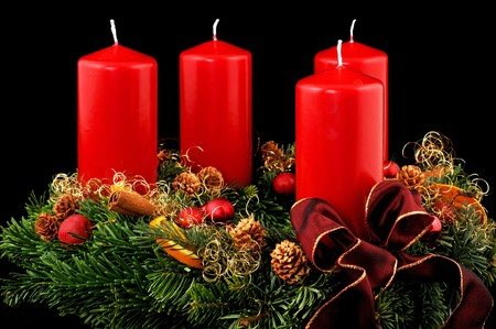 Advent wreath with red candles Stock Photo - 7306723
