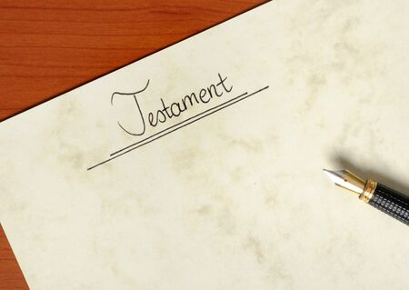 Handwritten last will in a studio shot